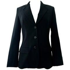 20th Christian Dior Paris Black Blazer Jacket