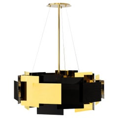 21st Century Fo Tan II Suspension Lamp Brass Layers