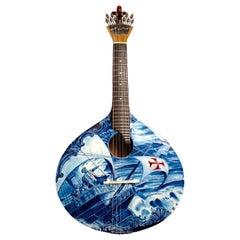 21st Century Handmade and Painted Adamastor Portuguese Guitar