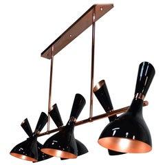 21st Century Helsinki II Suspension Lamp Brass Aluminium
