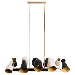 21st Century Jordaan Suspension Lamp Brass Aluminium