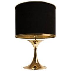 21st Century Montreal Table Lamp Brass Velvet