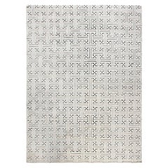21st Century Swedish Design Black and White, High and Low Geometric Handmade Rug