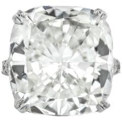 24.03 Carat Cushion Cut Diamond Engagement Ring