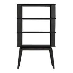 3-Tier Bookshelf/Storage, Ashwood with Black Stain by Debra Folz