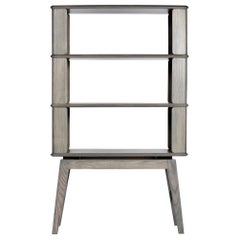 3-Tier Bookshelf/Storage - Ash Wood with Gray Stain by Debra Folz