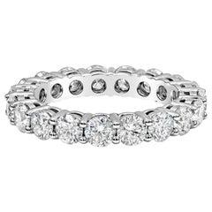 3.01 Carat Round Diamond Eternity Wedding Band