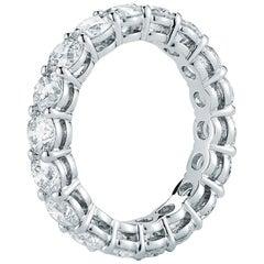 3.55 Carat Diamond Eternity Ring in 18 Karat White Gold