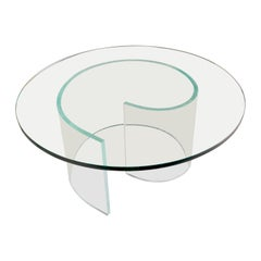 35.75in Glass and Acrylic Coffee Table