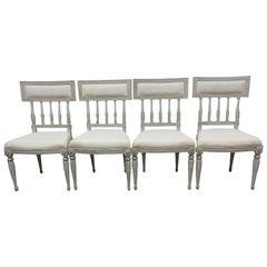 4 Swedish Gustavian Side Chairs