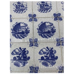 50 Tiles White and Blue, 20th Century