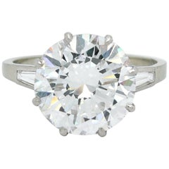 5.02 Carat D-VVS1, GIA, Diamond Solitaire Ring