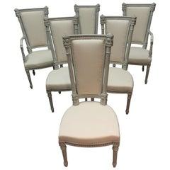 6 Swedish Gustavian Dining Chairs