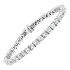 7.52 Carat Conflict Free Diamond Tennis Bracelet in 14 Karat White Gold