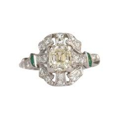 .80 Carat Diamond Platinum Engagement Ring