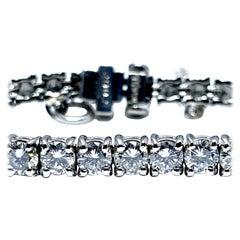 8.50 Carat Round Brilliant Diamond Platinum Straight Line Tennis Bracelet