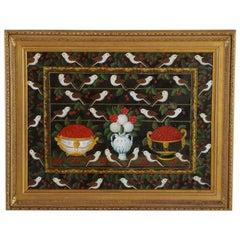 Studio of Miguel Canals (Spanish 1925-1995) Cherries, Birds & Flowers Oil Canvas