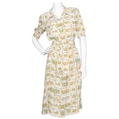 A 1970s Vintage Hermès Silk Day Dress