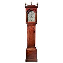 Fine George III 18th Century Period Mahogany Longcase Clock by Tomas Fowle