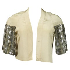 A Jeanne Lanvin Couture Evening Sequin embroidered Bolero Summer 1932