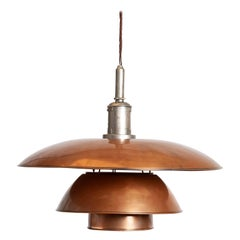 Large Copper Pendant by Poul Henningsen
