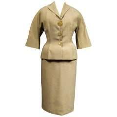 A Marcel Rochas French Couture Woollen Skirt and Jacket Bar Set Circa 1948