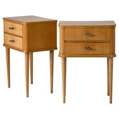 Pair of 1940s Oak Bedside Tables