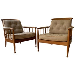 Pair of Kerstin Hörlin-Holmquist Armchairs Produced by OPE