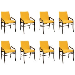 Set of 8 Sculptural Italian Dining Chairs Attributed to Malatesta & Mason