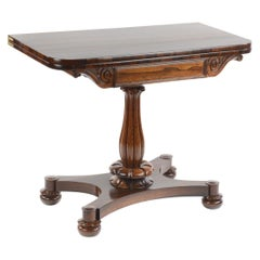 William IV Rosewood D Shaped Folding Card Table