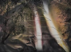Reconstruction of Piłsudski Mound -  Contemporary Landscape Painting, Trees