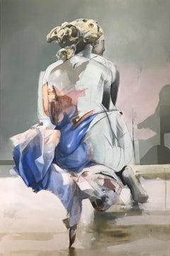 Ravi de Vous Voir, Irena Chrul, Contemporary Abstract Oil Painting, Portrait