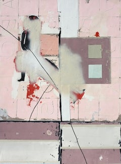 Two Slaves, Antoine Puisais, Contemporary Abstract Mixed Media,  Pink Collage