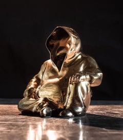 """Miroku"" Porcelain sculpture Edition of 25 by Huang Yulong"