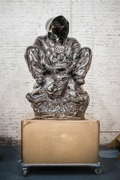 """""""Pagoda"""" Stainless steel sculpture Edition of 3 by Huang Yulong"""