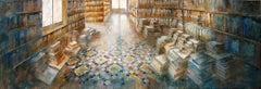 Espai Literari XIII - 21st Cent, Contemporary, Figurative, Oil Paint, Modernism