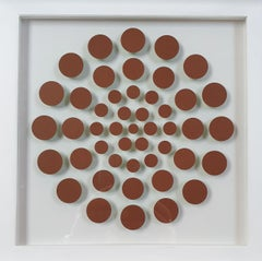 47 Dots V - contemporary modern abstract geometric paper relief