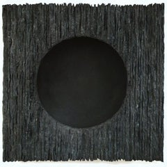 Inner Form Black - grey black contemporary modern abstract sculpture painting