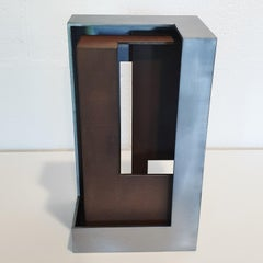 Pareja 05 - contemporary modern abstract geometric steel sculpture