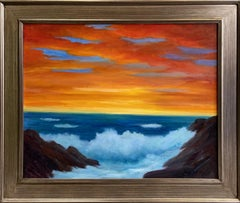 Sunrise on the Atlantic, original 24x30 impressionist marine landscape
