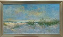 Surf and Dunes, original 20x30 impressionist marine landscape
