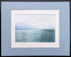 Nice.Airport(France)-seascape made in blue, white, green, framed