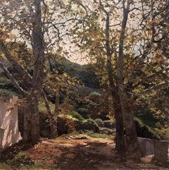 Menorca landscape original oil on canvas painting Spain