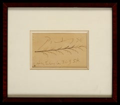 Antibes, Le 30.9.54 - Pablo Picasso, Original, French, Ink sketch, feather