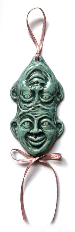 palindrome #4, glazed ceramic sculpture, ornament