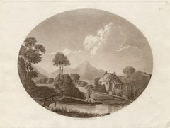 The Kirekin in Shropshire, sepia aquatint, Charles Dibdin, 1801