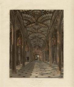 The Conservatory, Carlton House, Regency colour aquatint, 1817