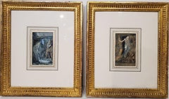 """Pair Of Watercolor Paintings For Charles Dickens' Book """"The Life Of Our Lord"""""""