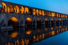 Late Afternoon on the Bridge, Esfahan, Iran - Limited Editions of 15, 30 x40 In.