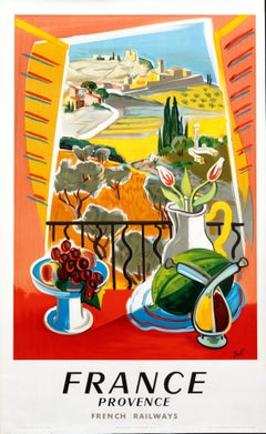 """France - Provence"" Original Vintage Travel Poster 1950s"